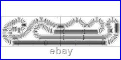 Custom HO Routed Slot Car Track KIT 4 Lane 4'x16 Viper V1 AFX Tyco BSRT Wizzard