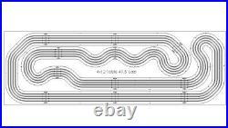 Custom HO Routed Slot Car Track KIT 4 Lane 4x12Viper V1 AFX Tyco BSRT Wizzard