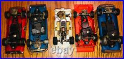 Eldon, Aurora, Cox, AFX 1/32 Slot Cars (10), Bodies, Track, Controllers, Parts