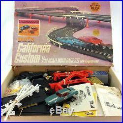 Eldon California Customs Slot Car Race Track Set 1/32 Scale Dyna Mite Vintage