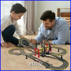 Electric Speed Racing Cars Set 2 Loops 37 FT Tracks Turnover Turns Mercedes Benz