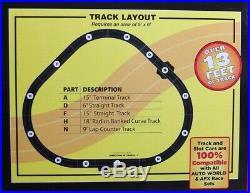 HO Slot Car Track Auto World Stock Car Showdown Petty vs. Isaac X-Traction