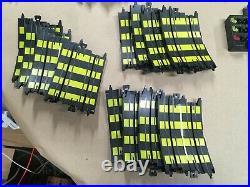 HUGE LOT Tyco Zero Gravity Cliff Hangers HO Slot Car Race Track Set 4 Cars 25'+