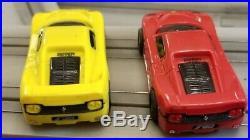 Hot Wheels Ferrari Face-Off slot car track by Mattel Tyco Electric Racing +Bonus