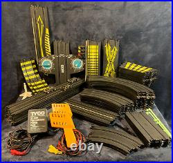 Huge Lot of 60+ Tyco Slot Car Set RARE Tracks, Cars, Power Pack, Controllers