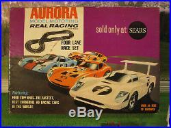 ITB AURORA MoDEL MoToRING Tuff Ones 4 Lane T Jet Slot Car Set Race Set Track