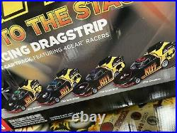KISS Slot Track RACE TO THE STAGE Dragstrip NIB 4 Gear Slot Car Racers RARE