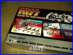 KISS Slot track RACE TO THE STAGE Dragstrip NIB 4 Gear KISS Slot Car Racers