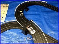 LIFE-LIKE Slot Car Track Set 1/64 HO Scale + 2 Life Like NASCAR Cars