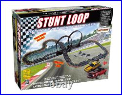 Large Slot Car Racing Track Set Stunt Loop Electric Road Racing Mustang Cars