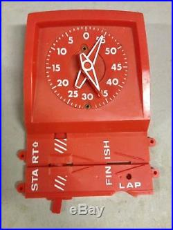 Large Vintage Ideal Motorific Racerific Track Lot Of 121 With Rare Lap Timer (a21)
