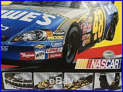 Life Like Race Track HO NASCAR Slot Racing Set Complete With Box 45' Long Track