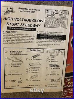 Life Like Race Track NASCAR HO Slot Racing Set Wholesale Lot Glow Stunt Speedway