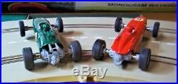 MONOGRAM COMPLETE 1/32 WATKINS GLEN BIG Slot Car Race Track Set 2 Cars Box COX