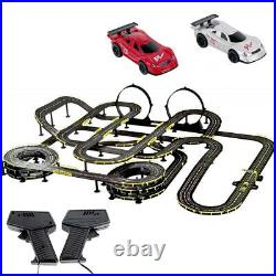 MOTION Remote Control DIY layout Racing Track Slot 2 Cars Speed Adjustable 28M
