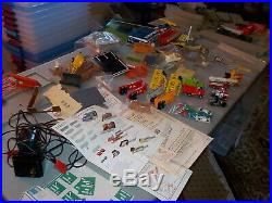 Massive lot of Tyco US1 Trucking slot cars track building everything! Us1