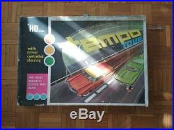 Mehanotehnika Tempo ho scale track with box and cars