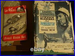 Monogram Le Mans Slot Track Set Vintage w. 3 Cars Ferrari 330 Ford GT40