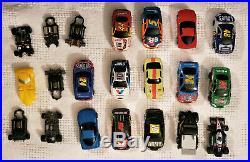 NASCAR Life Like Race Track HO Slot Racing Set Wholesale Lot 200 + Pieces