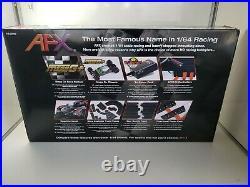 NEW AFX Giant Raceway 62.5' HO Slot Car Track Set withTri-Power Pack MEGA G+ Cars