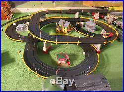 NMIB Tyco Super Road & Rail Aurora T Jet Slot Race Atlas Train Track Set