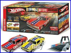 New Autoworld Hot Wheels Snake vs Mongoose Drag Racing Set 4 G HO Slot Car Track
