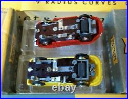 PLAYCRAFT MODEL MOTORING AURORA ORIGINAL #1 HO SLOT TRACK RACE SET 2 Cars TJET