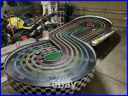 Professor Motor Commercial Slot car track 1/24th scale with stand cars lap timer