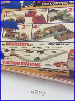 RARE Tyco US 1 Electric Trucking Highway Construction Set HO Slot Car Track