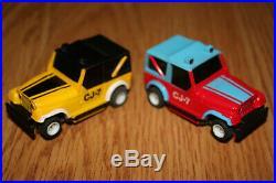 Rare 1980 TYCO JEEP CJ SNAKE-TRACK Nite Glow Slot Car racing set #6616