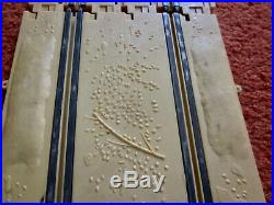 Rare Revell Baja Tan Slot Car Track with dunes, rocks and debris 1/32 Scale USED