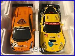 Rare ScaleXtric 132 GT Shift Slot Car Race Track Corvette Vs Lamborghini C 1298