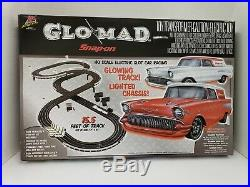 Rare Snap on 2008 Glo/Mad race track glowing track and lighted chiassis new