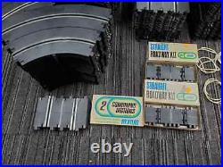 Riggen Revell slot car track lot 75% NOS track HUGE lot with controllers/power