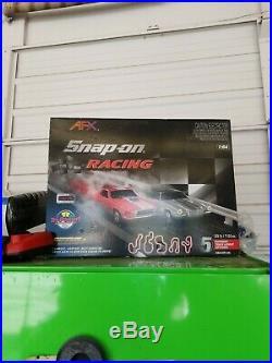 SNAP-ON Racing AFX Mega G+ set NEW Mustang & Camaro slot car set 164