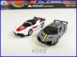 SOBA Hornby Scalextric 143 Slot Cars Police Chase Track 2 in 1 6.6M With Sound