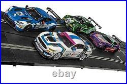 Scalextric ARC PRO Platinum GT Digital 30-Foot 1/32 Slot Car Track Set with4 Cars