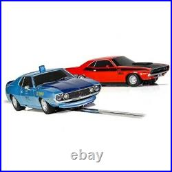 Scalextric American Police Chase Javelin v Challenger 1/32 Slot Car Track Set