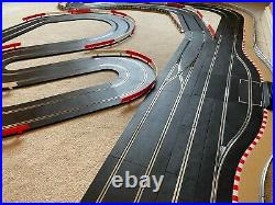Scalextric Digital Advanced Layout / Pit Lane / Straight Lane Changer & 4 Cars