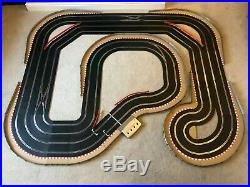 Scalextric Digital Large Layout with 3 Lane Changers / Hairpin & 4 Cars
