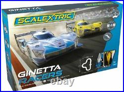Scalextric Ginetta Racers -16' Track! 4 Layouts 1/32 Slot Car Set -C1412T