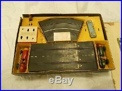 Scalextric Rare Vintage Tin Plate Boxed set 1950's. Original condition
