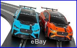 Scalextric Set C1401 I-Pace Challenge (2 x Jaguar) Full Sized Set + Lap Counter