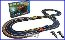 Scalextric Set C1405 American Police Chase Full Sized Car/Track STUNT Set