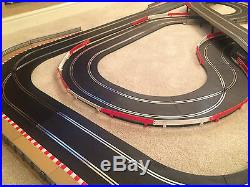 Scalextric Sport Large Layout with Corner Xovers / Long Flyover & 2 Cars