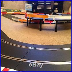 Scalextric Sport Large Layout with Flyover / Hairpin / Corner Xovers & 2 Cars