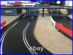 Scalextric Sport Layout with Lap Counter / Double Flyover / Xovers & 2 Cars