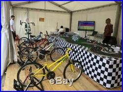Scalextric Sport track 4 lane powered by 4 energy bikes event eco attraction Set