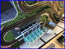Scalextric digital slot car track 1/32, Custom, used, includes 6 cars
