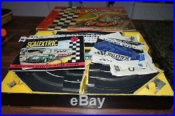 Scalextric motor bike and sidecar racing set MC1